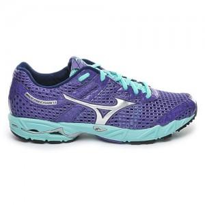 Chaussures-Running-Mizuno-Wave-Precision-13-Femme-Violet-Vert